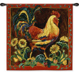 Rooster Rustic Wall Tapestry