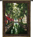 Canal in Brugge Wall Tapestry by  Trick