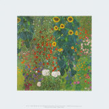 Farm Garden with Sunflowers, 1905 Poster par Gustav Klimt