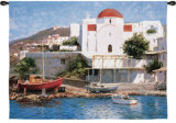Mykonos II Wall Tapestry by George W. Bates