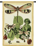 Whimsical Dragonfly II Wall Tapestry