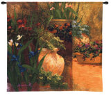 Flower Pots Wall Tapestry by Art Fronckowiak