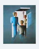 Four Figures and Cube, 1928 Prints by Oskar Schlemmer