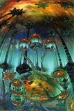 Liquid Mushrooms Posters