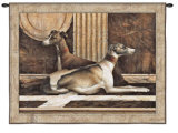 Greyhound Fresco Wall Tapestry by Elaine Vollherbst-Lane
