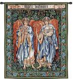 Ángeles músicos Tapiz por William Morris