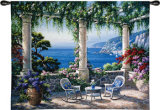 Mediterranean Terrace Wall Tapestry by Sung Kim