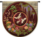 Cloisonne Ruby Wall Tapestry