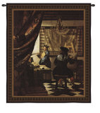 The Artist Studio Wall Tapestry by Jan Vermeer