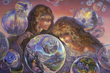 Bubble World Print by Josephine Wall
