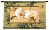 Bamboo and Orchids I Wall Tapestry by Ives Mccoll