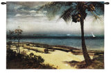 Tropical Coast Wall Tapestry by Albert Bierstadt