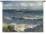 Seascape near Saintes-Maries Wall Tapestry by Vincent van Gogh