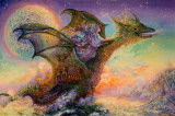 Dragon Ship Poster by Josephine Wall