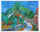 Path with Palm-Tree, Porto d'Ischia, 1957 Julisteet tekijänä Hans Purrmann