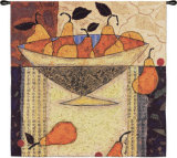 Asian Pears in Bowl Wall Tapestry by Penny Feder