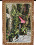 St. Moritz Cafe Wall Tapestry by Roger Duvall