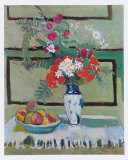 Still Life, Flowers and Fruit Poster von Henri Matisse