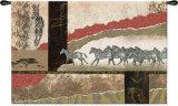 Serengeti Zebras Wall Tapestry by Joseph Poirier