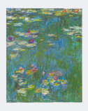 Water Lilies (detail) Posters by Claude Monet