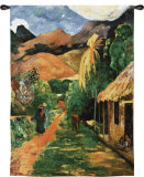 Chemin a Papeete Wall Tapestry by Paul Gauguin