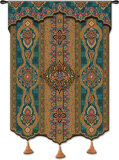 Prema Azure Wall Tapestry by  James