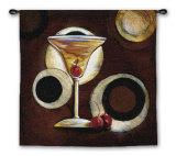 Manhattan Cocktail Wall Tapestry by Susan Osborne