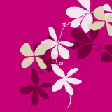 Fuchsia Kerala Print by Le'onor Mataillet