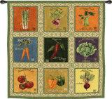 Vintage Veggies Tapestry Wall Tapestry