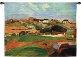 Landscape at Le Pouldu Wall Tapestry by Paul Gauguin