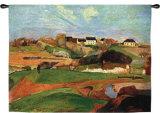 Paisaje de Le Pouldu Tapiz por Paul Gauguin