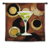 Martini Cocktail Wall Tapestry by Susan Osborne