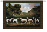 Foxhounds in a Landscape Wall Tapestry by George Stubbs