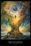 Tree Of Peace Poster di Josephine Wall