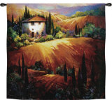 Golden Tuscany Wall Tapestry by Nancy O'toole