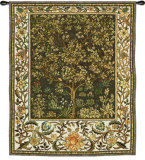 Tree of Life Umber Wall Tapestry by William Morris