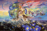 Andromeda's Quest Poster von Josephine Wall