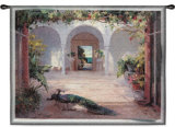 Sunlit Courtyard Wall Tapestry by  Haibin