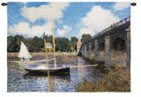 Bridge at Argenteuil Wall Tapestry by Claude Monet