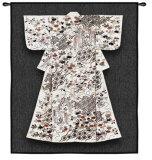 White Katabria Kimono Wall Tapestry