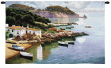 Daybreak on Coast Wall Tapestry by Ramon Pujol