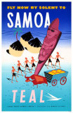 Fly Now By Solent To Samoa Masterprint