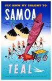 Fly Now By Solent To Samoa Lámina maestra