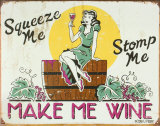 Make Me Wine Plaque en métal