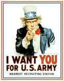 Uncle Sam I Want You Plechová cedule