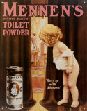 Mennen&#39;s Toliet Powder Tin Sign