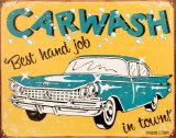Lavage de voiture Plaque en métal