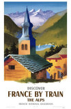 Discover France By Train- The Alps Masterprint