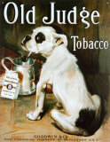 Tabac Old Judge Plaque en métal