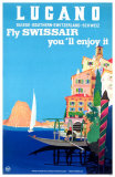 Lucano- Fly SWISSAIR Masterprint